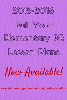 2015206 FULL YEAR of Elementary PE Lesson Plans Never write another lesson plan again! 40 Weeks that's 200 Days of PE Activities already planned out for you and your students! Enjoy Your School Year! ) is part of Physical education lessons - Physical Education Lesson Plans, Pe Lesson Plans, Elementary Physical Education, Elementary Pe, Health And Physical Education, Lesson Plan Templates, Waldorf Education, Pe Lessons, School Lessons