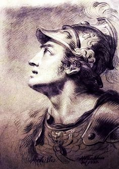 peter paul rubens - sketch of achilles