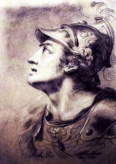 Peter Paul Rubens. Sketch of Achilles.