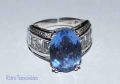 Genuine Chinese blue fluorite and white topaz by RetroRecyclables, $85.00