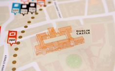Pivot Dublin map, printed detail by Conor and David