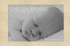 Baby birth announcement your choice of colors by yellowlemons, $14.00
