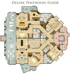 Image result for penthouse floor plan with pool