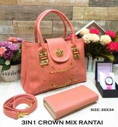 3IN1 Crown mix rantai peach@178rb (sintesis)