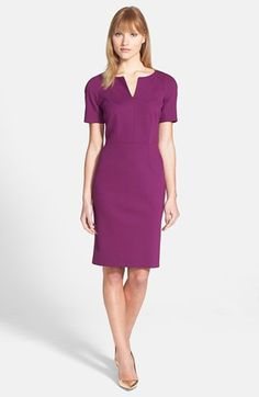 split neck ponte sheath dress {40% now during Nordstrom's Half Yearly Sale!!}
