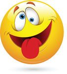 Tongue Out Funny Smiley Face Vector -