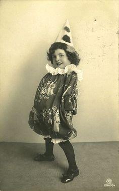Vintage Postcard ~ Cute Clown Girl | Flickr - Photo Sharing!