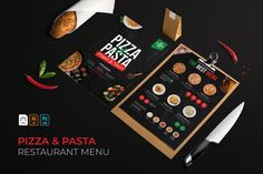Pizza Pasta Restaurants, Great Restaurants, Restaurant Menu Template, Menu Restaurant, Food Menu, Design Bundles, Poker Table, School Design, Flyer Design