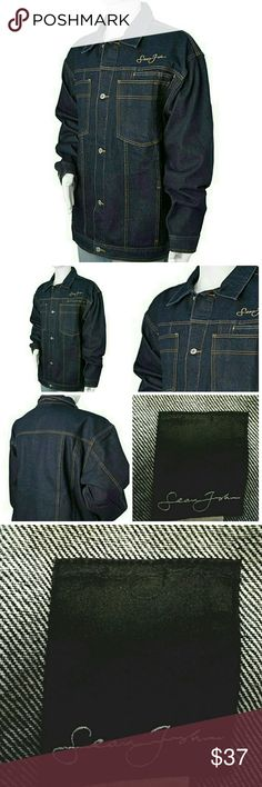 SOLD Sean John Mens Jean Jacket Denim XXL 2x SOLD Sean John Mens Wear Jean Jacket Denim Classic mens Jacket By Sean John Full Button closure. Two Chest Button Pockets, two Front side pockets & two inside hidden pockets don't miss out on this nice classic Jacket.  Bundle & SAVE 25% off   No additional shipping charge when you purchase more from my closet   Every purchase will be packed with Care & a Special FREE GIFT     25% OFF on bundles   Inventory # 99 Sean John Jackets & Coats…