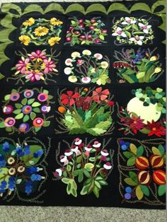 Wool applique and embroidered. 2019 Wool applique and embroidered. The post Wool applique and embroidered. 2019 appeared first on Wool Diy. Motifs Applique Laine, Wool Applique Quilts, Wool Applique Patterns, Wool Quilts, Wool Embroidery, Hand Applique, Felt Applique, Quilt Patterns, Appliqué Quilts
