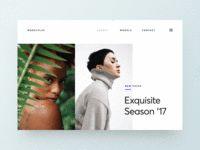 Modeling Agency UI Concept