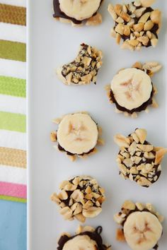 Chocolate Banana Bites are a fun treat to make with the kids and super healthy, too! Get the kids in the kitchen to help make these little goodies!