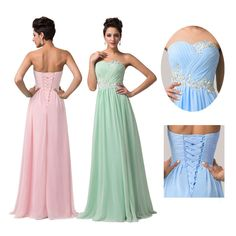 NEW STOCK Sexy Long Maxi Evening Dresses Formal Party Ball Gown Prom Bridesmaids
