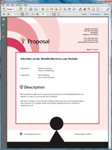 Website Advertising Offer Sample Proposal - Create your own custom proposal using the full version of this completed sample as a guide with any Proposal Pack. Hundreds of visual designs to pick from or brand with your own logo and colors. Available only from ProposalKit.com (come over, see this sample and Like our Facebook page to get a 20% discount)