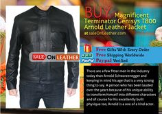 #MOvie #Terminator Genisys T800 #Arnold Leather Jacket Available At #Saleonleahter