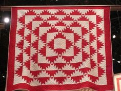 Selvage Blog: Red and White Pieced Quilts, Delectable Mountains quilt.