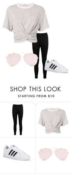 """chill day"" by pattaniat on Polyvore featuring Boohoo, T By Alexander Wang and adidas"