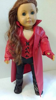Puppe Kleidung Avenger Scarlet-Hexe und von JessiesGirlClothing