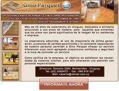 WebMarketing: Material promocional realizado para envió por mail y/o para difusión en redes sociales. En este caso realizamos una pequeña variación del diseño original del sitio: http://www.ginoparquet.com.uy/