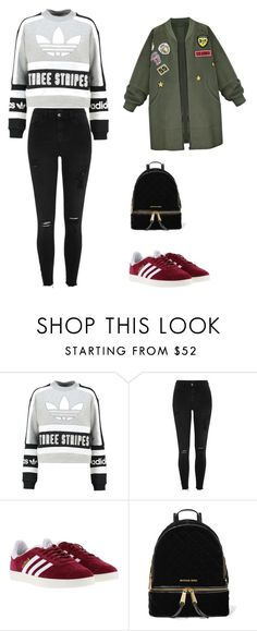 """""""Untitled #265"""" by timcaaa on Polyvore featuring adidas Originals, River Island, adidas, MICHAEL Michael Kors and WithChic"""