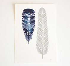 Feather Art Painting Watercolor Art Black Friday by RiverLuna