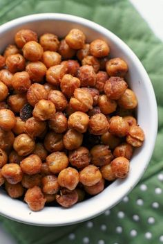 These insanely good Buffalo Roasted Chickpeas are a healthy and crunchy snack flavored with spicy buffalo sauce.