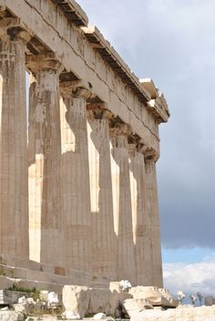 The Parthenon, Athens, a sight we saw at night from a bar waiting for an illegal taxi after the subway stopped early