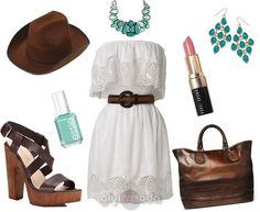#whitedress combinations with brown http://www.giyimvemoda.com/yazlik-beyaz-elbise-kombinleri.html