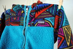 Vintage 80s Patagonia Fleece Hoodie Jacket  Size 3T by RogueRetro, $35.00