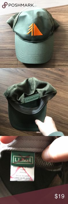 LLBean Traverse baseball cap Olive green with orange Traverse logo.  Mesh SnapBack baseball cap from LLBean in very good condition.  This is unisex sizing from my smoke free and pet free home! L.L. Bean Accessories Hats