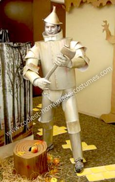 Homemade Tin Man Costume: This Tin Man costume was made for my office Halloween party.  My group decided to do the theme of The Wizard of Oz.  I wanted to be the Tin Man since he