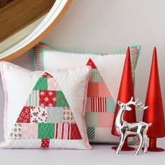 Christmas Tree Mini Quilt & Pillow PDF Pattern