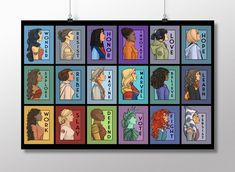 She Series Collage - Version 2 Bed Throw Blanket by Karen Hallion Illustrations - x Blanket Princess Art, Princess Leia, Black Panther Statue, Film Paper, A Wrinkle In Time, Photo Processing, Anne Of Green, Buffy The Vampire, Canvas Prints