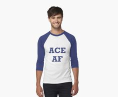 """Ace AF"" Men's Baseball ¾ T-Shirts by cats-on-mars 