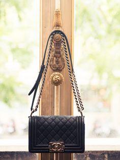 black leather #bag :: Boy by #Chanel