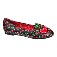 Banned Lovey Flat Shoes (Black/Red) these are so beautiful and very rockabilly!!! Xx