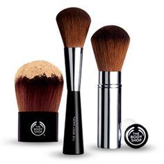 Favorite brushes: Makeup Brushes from The Body Shop Eyeliner, Eyeshadow, Blush Brush, Foundation Brush, Natural Make Up, Blusher, The Body Shop, Bronzer, Makeup Cosmetics