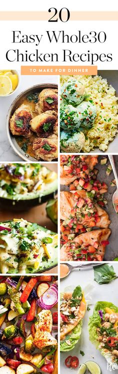 20 Easy-Peasy Whole30 Chicken Recipes to Make for Dinner #purewow #cooking #chicken #food #easy #dinner #healthy #whole30 #recipe