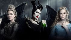 Michelle Pfeiffer as Queen Ingrith, Angelina Jolie as Maleficent and Elle Fanning as Princess Aurora Sam Riley, Watch Maleficent, Disney Maleficent, Disney Villains, Disney Films, Disney Princesses, Michelle Pfeiffer, Elle Fanning, Angelina Jolie Movies
