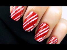 Candy cane nail art #tutorial