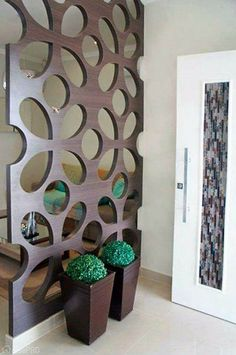 16 Awesome Room Divider and Living Room Partition Design Ideas - Local Home US - Home Improvement Wood Partition, Living Room Partition Design, Room Partition Designs, Partition Ideas, Wall Design, House Design, 3d Design, Diy Casa, Wall Decor