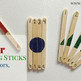 These toddler learning sticks are great boredom busters or busy bags for littles!