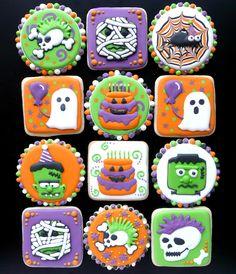 Halloween-Birthday-Lego cookies