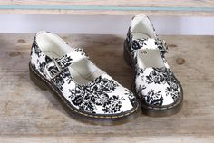 Dr Martens Mary Jane Black and White by ViejitaCustomVintage, $78.00