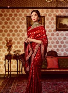 wedding saree and wedding saree indian Sabyasachi Mukherjee Latest Wedding Dresses Collection. Deepika Padukone Saree, Deepika In Saree, Sabyasachi Sarees, Anarkali, Bengali Saree, Sabyasachi Bride, Churidar, Indian Sarees, Lehenga