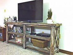 Beautiful Build and Finish on this Rustic Console Table. Free #Plans at Ana-White.com.