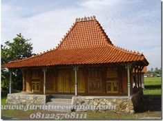 Minimalist House Design, Minimalist Home, Indonesian House, Brick Roof, Asian Interior, Vernacular Architecture, Village Houses, Cabin Design, Architectural Features