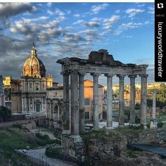 Outra Poderosa!!! #Repost @luxuryworldtraveler with @repostapp  Spectacular capture of the Forum Imperial Romano courtesy of @quindigo5.
