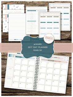 2017 Day Planner Kit - a 40-page printable agenda with daily weekly monthly and yearly calendar pages to help you stay organized! (10.00 USD) by TrewStudio