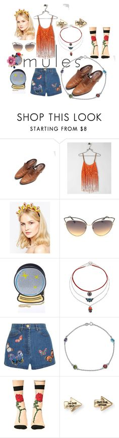 """""""spring fun"""" by murielhatesyou on Polyvore featuring Miss Me, Wolf & Moon, Nila Anthony, Miss Selfridge, Valentino, Bling Jewelry, Stance, Aéropostale, Les Néréides and vintage"""
